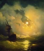 буря на море ночью айвазовского описание